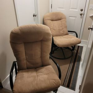 Set Of 2 Rocking , Revolving And Reclining Chairs for Sale in Everett, WA