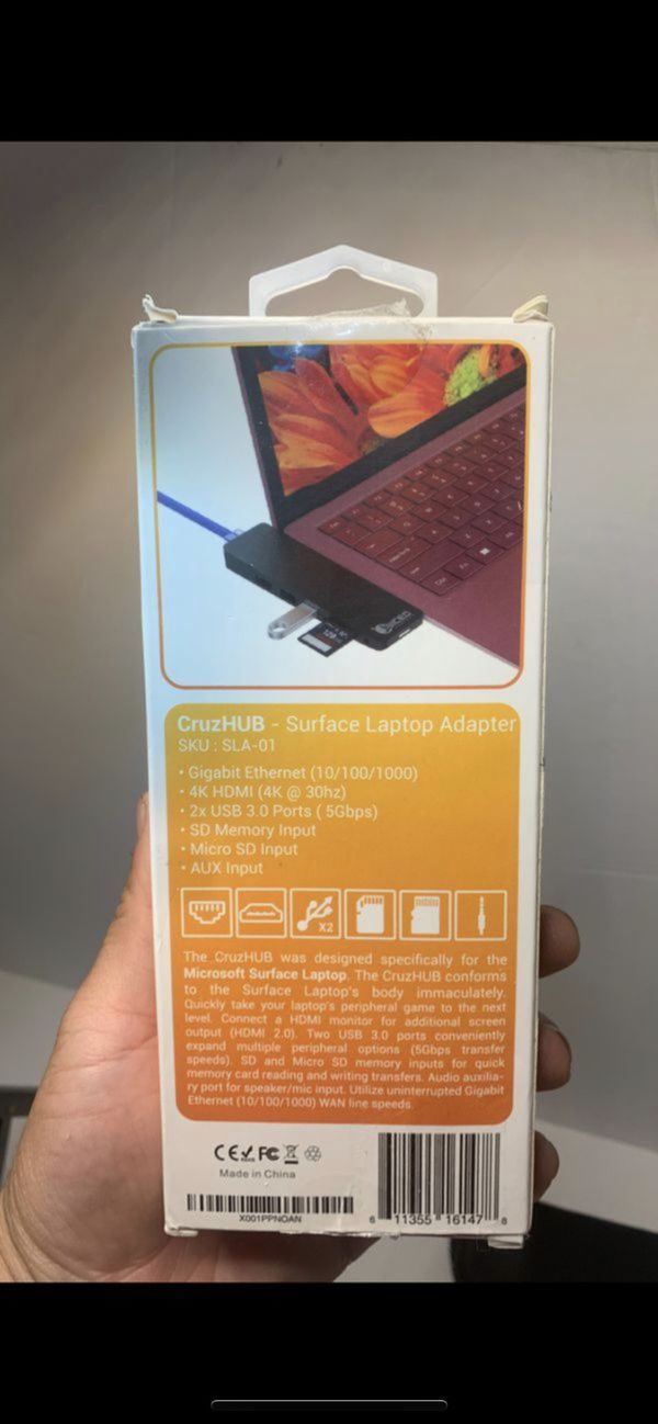 Adapter/Hub for Microsoft Surface Laptop 1/2