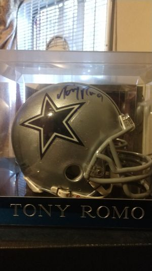 Signed mini helmet by Tony Romo from the cowboys for Sale in San Jose, CA
