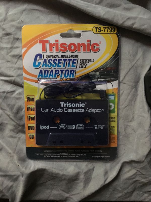 Trisonic universal mobile/home cassette adaptor