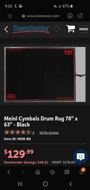 Meinl Drum Rug for Sale in Washington, PA
