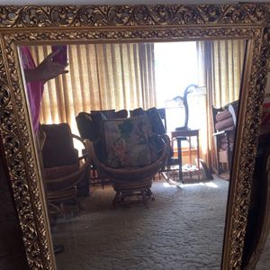 Vintage Ornate Wooden Mirror for Sale in Chicago, IL