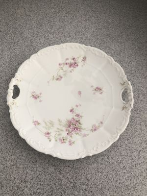 Welmar antique floral China plate with handles for Sale in Murrieta, CA