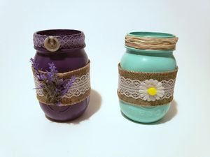 Mason Jars Vintage Inspired Hand Decorated Spring Set for Sale in Richmond, KY