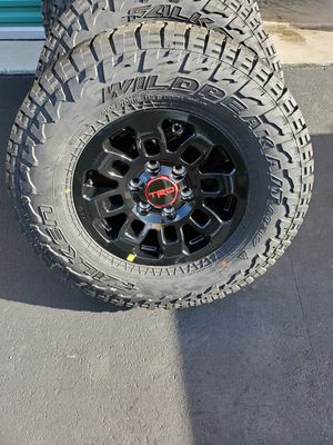 New Set of 4 Toyota Trd Pro OEM rims and Falken Wildpeak AT3W 265/70R16( No Sensors) for Sale in Fort Lauderdale, FL