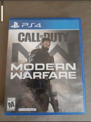 Call of duty modern warfare ps4 for Sale in Costa Mesa, CA