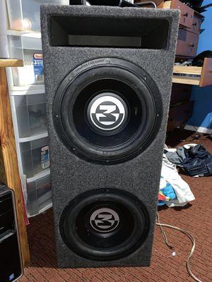 2 12 inch Memphis Audio Speakers Box and 800 Watt Amp for Sale in Alexandria, VA