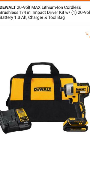Drill de impacto 20V máx brushless set for Sale in Falls Church, VA
