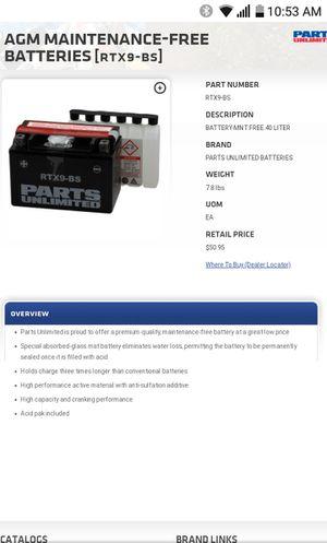 Battery 9B-S for Sale in Chula Vista, CA