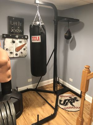 100lb punching bag with stand for Sale in Arlington Heights, IL