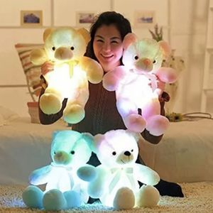 Stuffed Soft Kids Teddy Bears and unicorns Light Up Glowing Led Toy Colorful Christmas Gifts, teddy bears come in white, yellow and pink for Sale in South Gate, CA