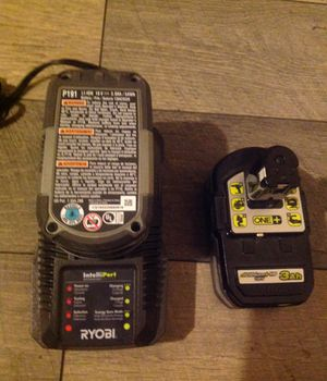 RYOBI-18-Volt-ONE-Lithium-Ion-3-0-Ah-LITHIUM-HP-High-Capacity-Battery-P191 for Sale in Carlsbad, CA