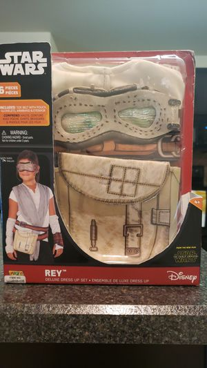 Rey Star Wars Costume Deluxe Dress Up Set size6-8 for Sale in Fort Worth, TX