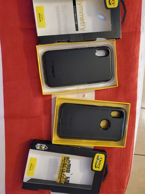 Otter case for iphones x r with glass protector included for Sale in South Gate, CA