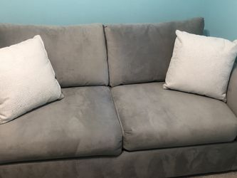 Grey Microfiber Sleeper Sofa - like new! for Sale in Chicago,  IL