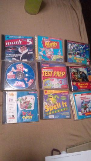 "Educational; Ages 4 - Adult, Spelling,Math, Science,Reading 9 CD-ROM""S $6 for Sale in Huntington Park, CA"