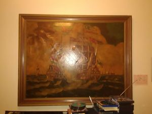 Very old huge ship painting for Sale in Monroe, LA