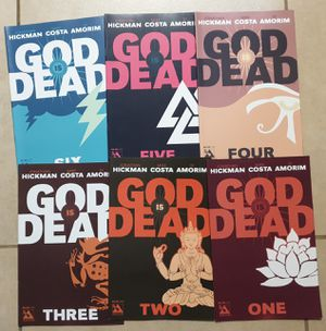 6 x GOD IS DEAD # 1 - #6. 2013. JONATHAN HICKMAN. MATURE READERS. AVATAR COMICS. BAGGED & BOARDED. NEW CONDITION. ALL SIX FOR $10 for Sale in Las Vegas, NV