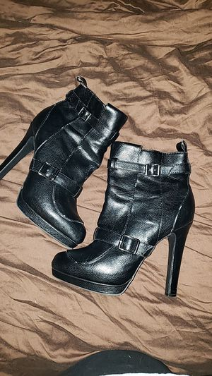Black leather booties, sz 8.5 for Sale in Conway, AR