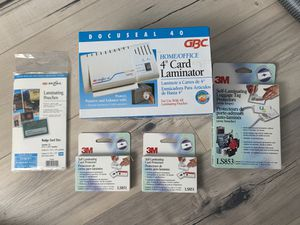 "GBC 4""Card Laminator - Extra Pouches for Sale in Westminster, CA"