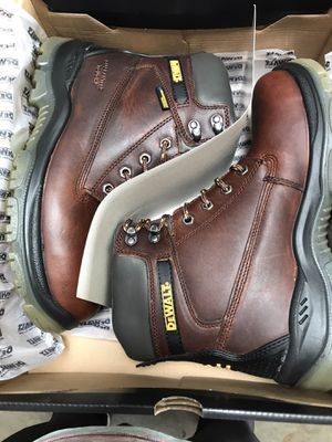 DEWALT Men's Titanium Waterproof Work Boots - Steel Toe - Brown Size 9(W) for Sale in Temple City, CA