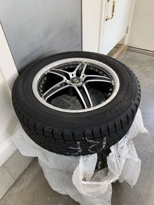 Set of rims and snow tires for Fusion or like lug configuration for Sale in Kennebunkport, ME