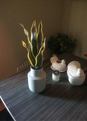 Fake plant in a grey IKEA vase. for Sale in Oak Lawn, IL