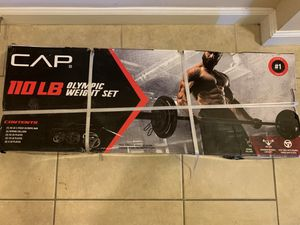 CAP Barbell Olympic Weight Set, 110 LBs for Sale in Rockville, MD