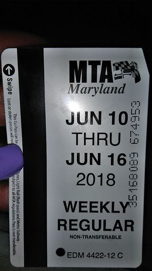 WEEKLY PASS for Sale in Baltimore, MD