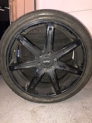Black KMC rims for Sale in Banning, CA