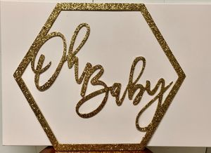 """Baby shower sign """"Oh Baby"""" for Sale in Pompano Beach, FL"""