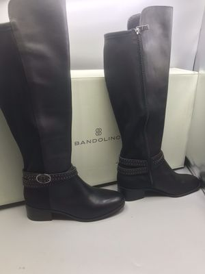 Bandolino Brbryices Women's Black Tall Leather Knee Hi Boots Size 5.5 for Sale in Tinton Falls, NJ
