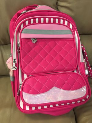 Warehouse sell Brand new Girls Rolling Backpack with separate trolley and pencil box for Sale in Chino Hills, CA