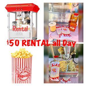 Popcorn Machine R E N T A L 🍿🍿🍿 for Sale in Rancho Cucamonga, CA