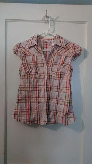 Plaid Fringe women's summer shirt for Sale in Kansas City, MO