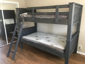 TWIN OVER TWIN BUNK BED(MATTRESS INCLUDED) for Sale in South Gate, CA