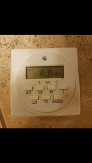 2pk 7-Day Programmable Electric Timer for Sale in Dallas, TX