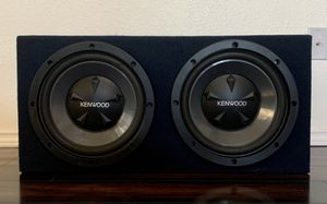 "Pair of 12"" Kenwood 800W Car Subwoofers in Box - NICE for Sale in Round Rock, TX"