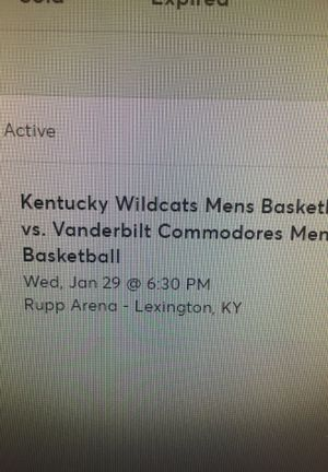 2 tickets to UK basketball game tonight. Section 219 row F. for Sale in Covington, KY