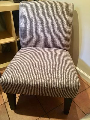2 Armless chairs from Target, gently used. Colors: grey & cream stripes. for Sale in Oakland, CA
