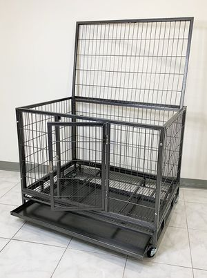 """New $130 Heavy Duty 42x30x34"""" Large Dog Cage Pet Kennel Crate Playpen w/ Wheels for Large Pets for Sale in South El Monte, CA"""