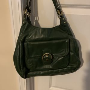 Large Green Leather Coach hobo shoulder bag in excellent condition. for Sale in Lexington, SC