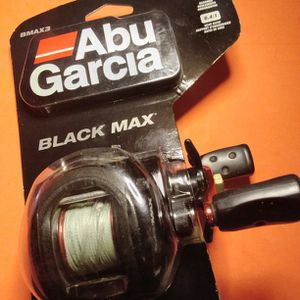 👽🔥🔥🔥🎣💯👽😎🔥Take My Big FISH KILLER BAITCAST REEL! ABU GARCIA BLACK MAX🔥🔥👽🎣🐟 USED WORKS GREAT NOT BROKEN! VERY GOOD CONDITION FOR MY USE! for Sale in Palmdale, CA