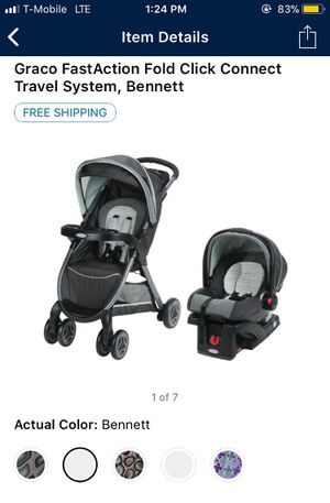 Graco fast action stroller w/ car seat for Sale in Las Vegas, NV