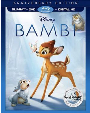 Bambi (1942) 2 Disc Anniversary Edition Blu-ray DVD for Sale in Las Vegas, NV