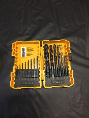Dewalt drill bits and charger for Sale in San Jose, CA