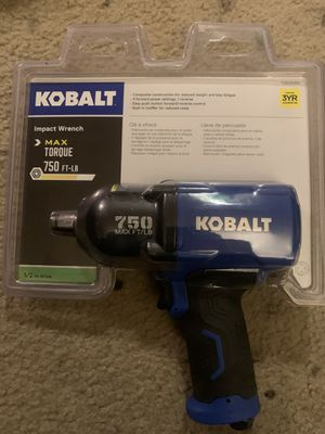 """Kobalt 750ft-lbs 1/2"""" impact wrench for Sale in Lakewood, WA"""