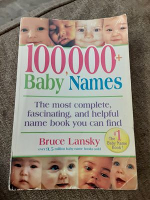 100,000 Baby Name Book by Bruce Lansky for Sale in Woodlake, CA