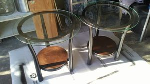 Glass top end tables for Sale in Salt Lake City, UT