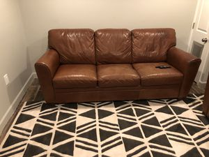 Naturzzi Leather coach and recliner in great condition! for Sale in Washington, DC